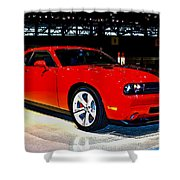 2009 Dodge Challenger Number 2 Shower Curtain