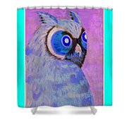 2009 Owl Negative Shower Curtain