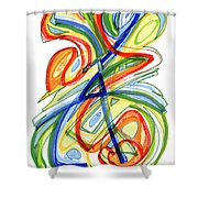 2010 Abstract Drawing Eight Shower Curtain