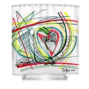 2010 Abstract Drawing Eighteen Shower Curtain