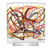 2010 Abstract Drawing Fourteen Shower Curtain