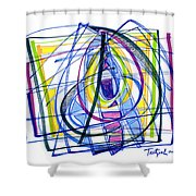 2010 Abstract Drawing Nineteen Shower Curtain