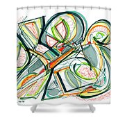 2010 Abstract Drawing Seventeen Shower Curtain