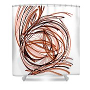 2010 Abstract Drawing Six Shower Curtain