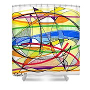 2010 Abstract Drawing Sixteen Shower Curtain