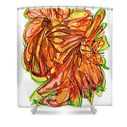 2010 Abstract Drawing Ten Shower Curtain