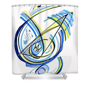 2010 Drawing One Shower Curtain