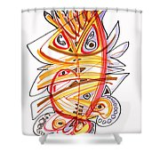 2010 Drawing Three Shower Curtain