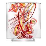 2010 Drawing Two Shower Curtain