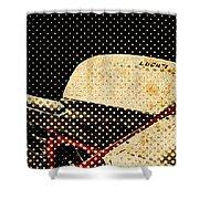 2010 Ducati 1198s Big Newspaper Dots Shower Curtain