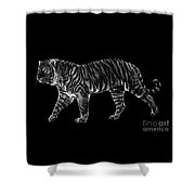 Tigers Gait Shower Curtain