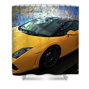 2011 Lamborghini Gallardo Lp560-4 Bicolore 2 Shower Curtain