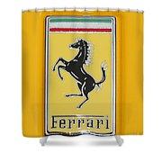 2012 Ferrari Hood Emblem Shower Curtain