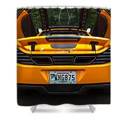 2012 Mc Laren Exhausts And Taillights Shower Curtain