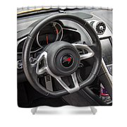 2012 Mc Laren Steering Wheel Shower Curtain