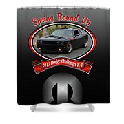 2013 Dodge Challenger Rt Wheeler Shower Curtain