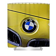 2015 Bmw M4 Hood Shower Curtain by Aaron Berg
