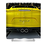 2014 Porsche Cayman S Number 2 Shower Curtain