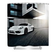2014 Techart Porsche Cayman Shower Curtain