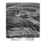 2015 A Space Odyssey - Bw Shower Curtain