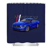2015 Blue Mustang Shower Curtain