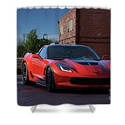 2015 Corvette Stingray  Shower Curtain