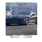 2015 Corvette Z06 Coupe Shower Curtain