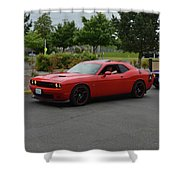2015 Dodge Challenger Scat Pack Harper Shower Curtain
