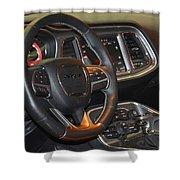 2015 Dodge Challenger Srt Hellcat Interior Shower Curtain