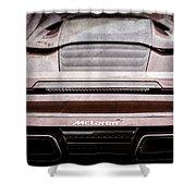2015 Mclaren 650s Spider Rear Emblem -0011ac Shower Curtain