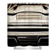 2015 Mclaren 650s Spider Rear Emblem -0011s Shower Curtain