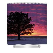 2015 New Year Sunset Shower Curtain