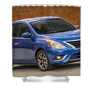 2015 Nissan Versa Sedan Shower Curtain