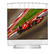 2015 Sebastian Vettel  Shower Curtain
