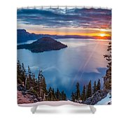 2015 Spring Sunrise From Discovery Point Shower Curtain