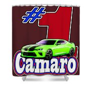 2016 Camaro Shower Curtain