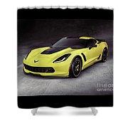 2016 Chevrolet Corvette Z06 Coupe Sports Car Shower Curtain