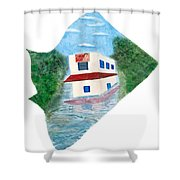 2016 Dc Ward Story Collection - Ward 7 Of 8 Shower Curtain
