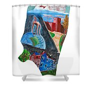 2016 Dc Ward Story Collection - Ward 8 Of 8 Shower Curtain