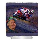 2016 Fim Superbike Nicky Hayden Shower Curtain
