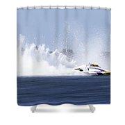 2016 Taree Race Boats 01 Shower Curtain