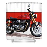 2016 Triumph 1200 Cc Motorcycle Shower Curtain
