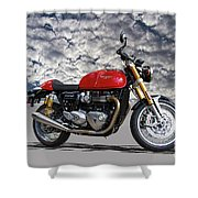 2016 Triumph Cafe Racer Motorcycle Shower Curtain