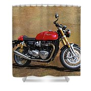 2016 Triumph Motorcycle Shower Curtain