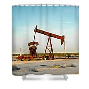 2016_10_pecos Tx_pump Jacks 2 Shower Curtain