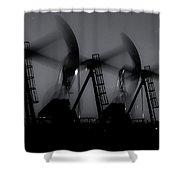 2016_12_midland Tx_midnight Pump Jacks 1 Shower Curtain