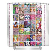 2017 Commemorative Breast Strokes Poster Shower Curtain