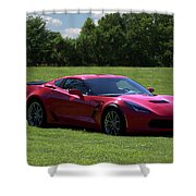 2017 Corvette Shower Curtain