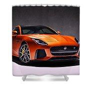 2017 Jaguar F Type Shower Curtain