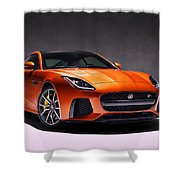 2017 Jaguar F Type Shower Curtain